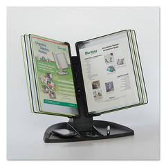 Tarifold Modular Reference Display Black Line Desk Set, 10 Wire-Reinforced Pockets