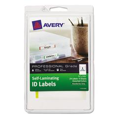 Self-Laminating ID Labels, 4 x 6 Sheet, 2/3 x 3 3/8, White/Asst, 24/Pack