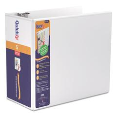 "Stride QuickFit D-Ring View Binder, 5"" Capacity, 8 1/2 x 11, White"