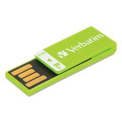 Clip-It USB 2.0 Flash Drive, 8GB, Green