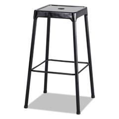 Bar-Height Steel Stool, Black