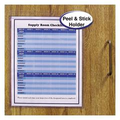 "Self-Adhesive Shop Ticket Holders, Heavy, 50"", 9 x 12, 50/BX"