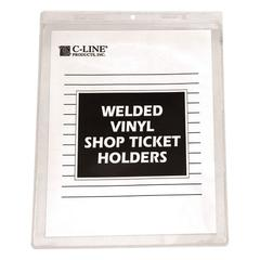 "C-Line Clear Vinyl Shop Ticket Holder, Both Sides Clear, 15"", 8 1/2 x 11, 50/BX"