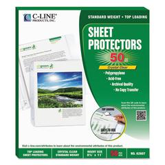 "Sheet Protectors, Heavy, Clear, Polypropylene, 2"", 11 x 8 1/2, 50/BX"