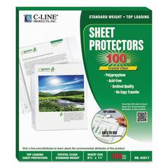 "C-Line Sheet Protectors, Clear, Polypropylene, 2"", 11 x 8 1/2, 100/BX"