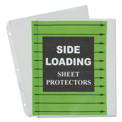 "C-Line Side Loading Polypropylene Sheet Protector, Clear, 2"", 11 x 8 1/2, 50/BX"