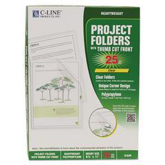 Project Folders, Reduced Glare, Polypropylene, Letter Size, 25/Box