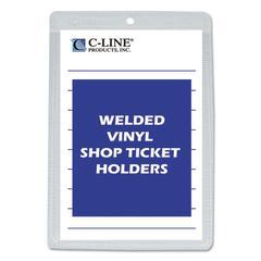 "C-Line Clear Vinyl Shop Ticket Holder, Both Sides Clear, 25"", 5 x 8, 50/BX"