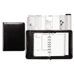 Day-Timer Aristo Bonded Leather Starter Set, 5 1/2 x 8 1/2, Black
