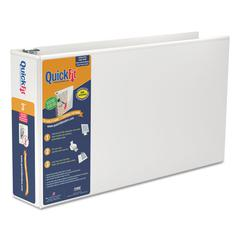 """Stride QuickFit Ledger D-Ring View Binder, 3"""" Capacity, 11 x 17, White"""