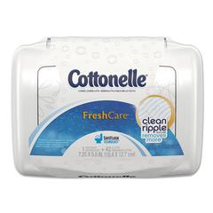 Fresh Care Flushable Cleansing Cloths, White, 3.75 x 5.5, 42/Pack