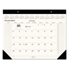 AT-A-GLANCE Executive Desk Pad, 22 x 17, Buff, 2017