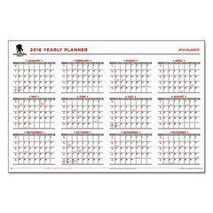 Wounded Warrior Project Erasable Wall Calendar, 24 x 36, 2016