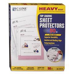 """Heavyweight Polypropylene Sheet Protector, Non-Glare, 2"""", 11 x 8 1/2, 50/BX"""