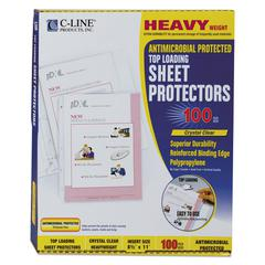 "C-Line Hvywt Poly Sht Protector, Clear, Top-Loading, 2"", 11 x 8 1/2, 100/BX"