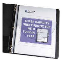 "Super Capacity Sheet Protector with Tuck-In Flap, 200"", Letter Size, 10/Pack"