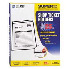 "Shop Ticket Holders, Stitched, Both Sides Clear, 50"", 8 1/2 x 11, 25/BX"