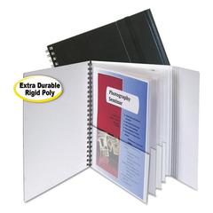 C-Line Eight-Pocket Portfolio with Security Flap, Polypropylene, 8 1/2 x 11, Black
