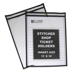 "Shop Ticket Holders, Stitched, Both Sides Clear, 75"", 11 x 14, 25/BX"