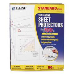 """C-Line Standard Weight Polypropylene Sheet Protector, Clear, 2"""", 11 x 8 1/2, 100/BX"""