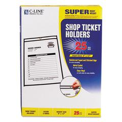 "Shop Ticket Holders, Stitched, Both Sides Clear, 75"", 9 x 12, 25/BX"
