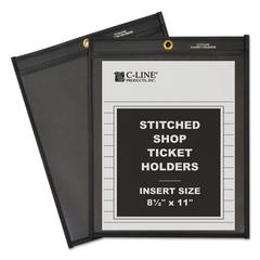 "Shop Ticket Holders, Stitched, One Side Clear, 50"", 8 1/2 x 11, 25/BX"