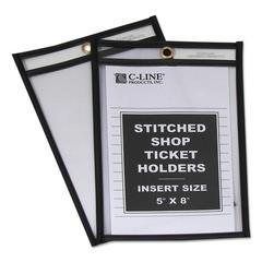 """Shop Ticket Holders, Stitched, Both Sides Clear, 25"""", 5 x 8, 25/BX"""