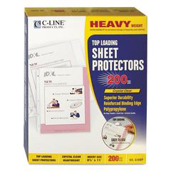 "Heavyweight Polypropylene Sheet Protector, Clear, 2"", 11 x 8 1/2, 200/BX"
