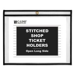 "C-Line Shop Ticket Holders, Stitched, Sides Clear, 50"", 11 x 8 1/2, 25/BX"