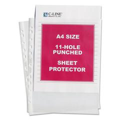 "C-Line Standard Weight Poly Sheet Protector, Clear, 2"", 11 3/4 x 8 1/4, 50/BX"