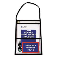 "C-Line Shop Ticket Holders with Strap, Stitched, 150"", 9 x 12, 15/BX"