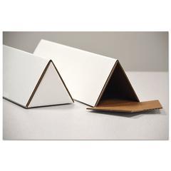 Triangular Mailing Tubes, 18l x 1/4w x 3h, White, 25/Pack