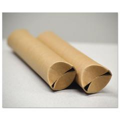 "Snap-End Mailing Tubes, 24l x 1 1/2"" dia., Brown Kraft, 25/Pack"