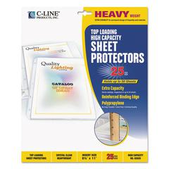 "C-Line High Capacity Polypropylene Sheet Protectors, Clear, 50"", 11 x 8 1/2, 25/BX"