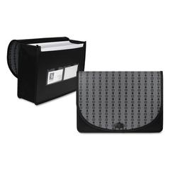 C-Line Circle Pattern Expanding File, Letter, 1-Pocket, Document Case, Black/Gray