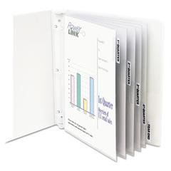 "Sheet Protectors with Index Tabs, Heavy, Clear Tabs, 2"", 11 x 8 1/2, 5/ST"