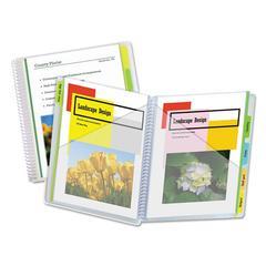 10-Pocket Poly Portfolio with Write-On Tabs, Polypropylene, Clear