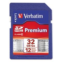 Premium SDHC Memory Card, Class 10, 32GB