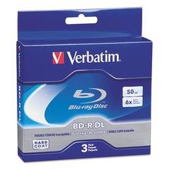 Verbatim Blu-Ray BD-R Dual-Layer, 50 GB, 3/Pk