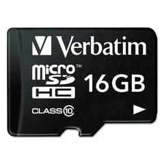 Verbatim microSDHC Card w/Adapter, Class 10, 16GB