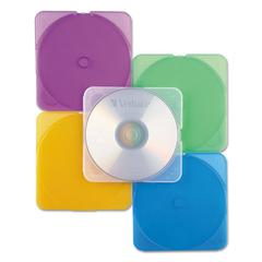 Verbatim TRIMpak CD/DVD Case, Assorted Colors, 10/Pack