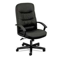 VL641 Series Leather High-Back Swivel/Tilt Chair, 25 3/4w x 28 1/2d x 47h, Black
