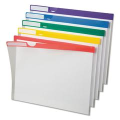 Clear Poly Index Folders, Letter, Assorted Colors, 10/Pack