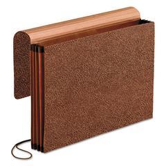 Premium Reinforced Expanding Wallet, 1 Pocket, Legal, Brown