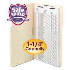 Extra-Capacity Manila Folders w/SafeSHIELD Coated Fasteners, Legal, 50/Box