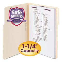 Extra-Capacity Manila Folders w/SafeSHIELD Coated Fasteners, Letter, 50/Box