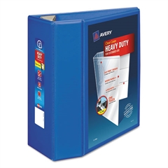 "Heavy-Duty View Binder w/Locking EZD Rings, 5"" Cap, Pacific Blue"