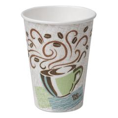 Hot Cups, Paper, 16oz, Coffee Dreams Design, 50/Pack