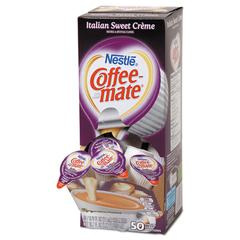 Liquid Coffee Creamer, Italian Sweet Creme, 0.375 oz Cups, 50/Box