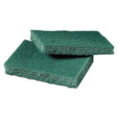 General Purpose Scrub Pad, 3 x 4 1/2, Green, 40 per Box/2 Boxes per Carton
